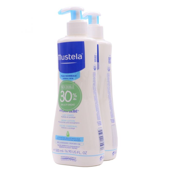 Mustela Hydra Bebe 500ml x 2 Pack Doble 30%Dto 2ªUd
