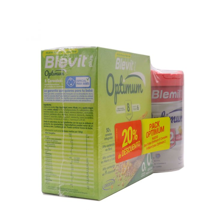 Blevit Plus Pack Optimum 8 Cereales + Blemil Plus Optimum