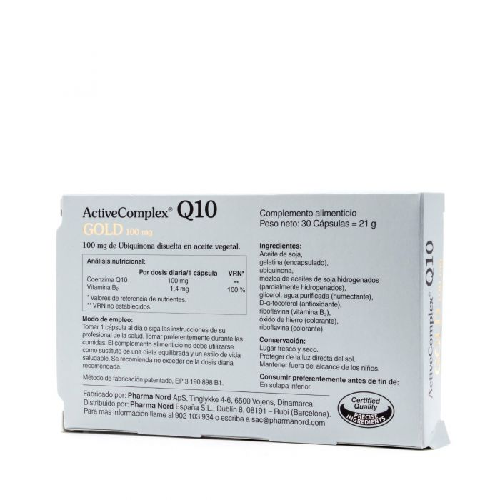 ActiveComplex Q10 Gold Pharma Nord 100mg 30Cap