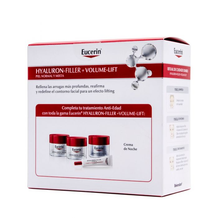 Eucerin Hyalluron-Filler + Volumen Lift Día Piel Normal y Mixta + Contorno de Ojos Regalo