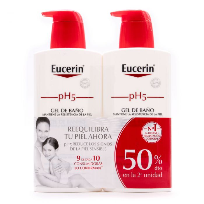 Eucerin pH5 Gel de Baño 2x400ml 50%Dto 2ªUd