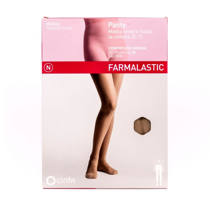 Farmalastic Panty Media Compresión Normal Beige Talla E