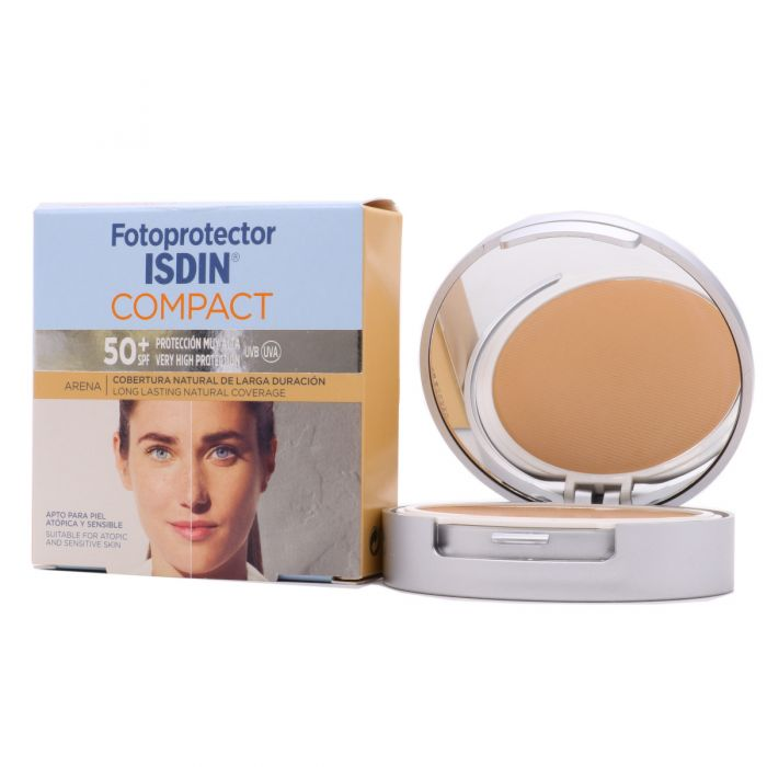 Fotoprotector Isdin Maquillaje Compact SPF50+ Oil Free Arena 10gr