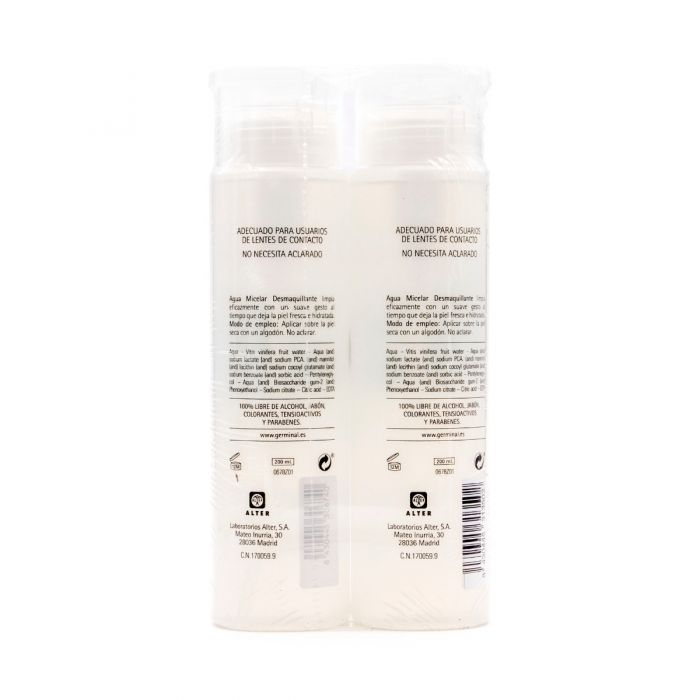Germinal Agua Micelar Alter 200ml Pack Duplo 2x1
