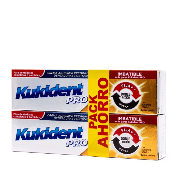 Kukident Pro Doble Acción 40g+40g DUPLO Pack Ahorro