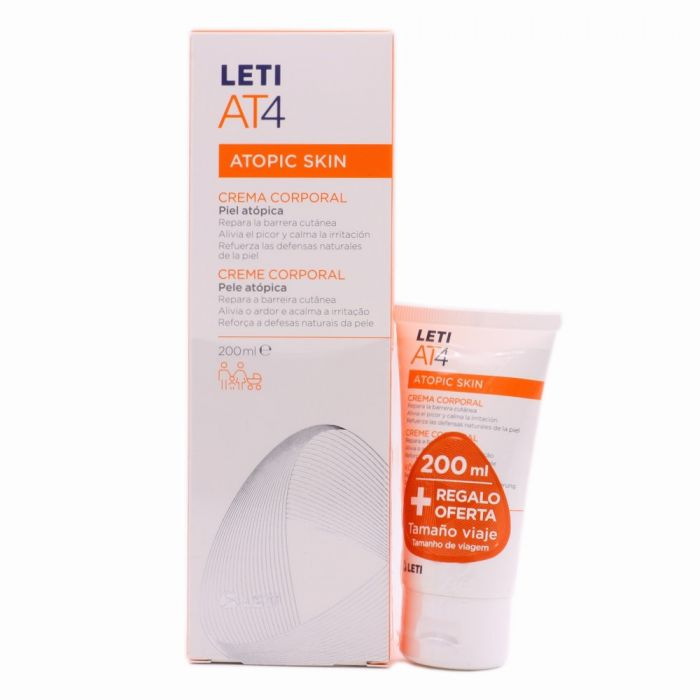 Leti AT4 Crema Corporal Atopic Skin 200ml + 50 ml de Regalo