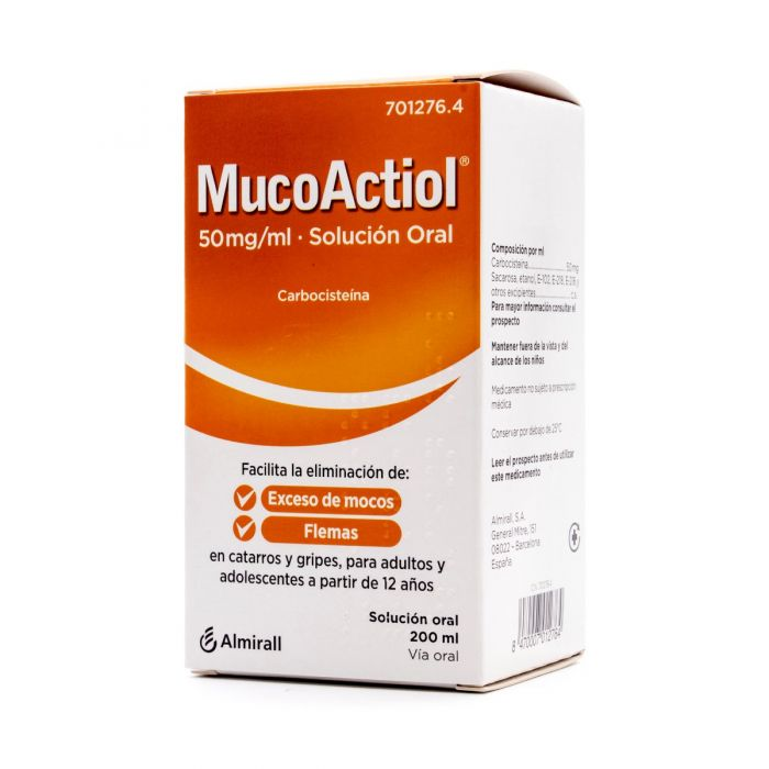 MucoActiol 50 mg/ml Solución Oral 200 ml