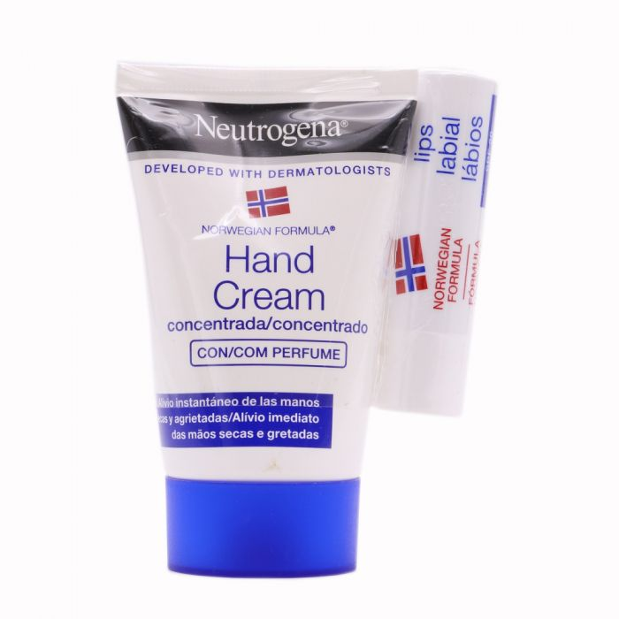Neutrogena Crema de Manos Concentrada+Stick Labial SPF20 Pack