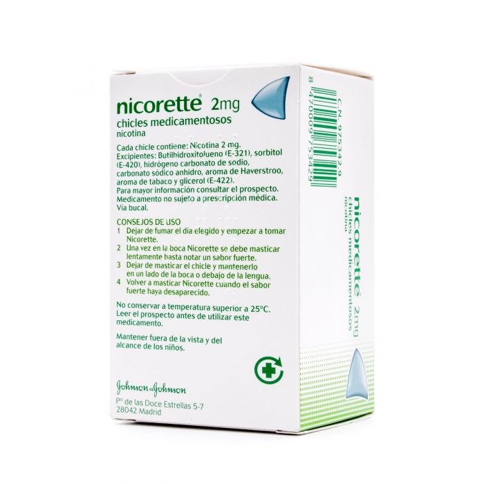 Nicorette 2 mg 105 chicles medicamentosos