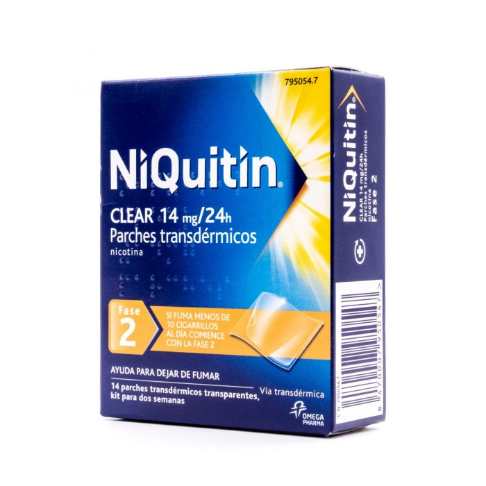 NiQuitin Clear 14mg/24h 14 parches transdérmicos