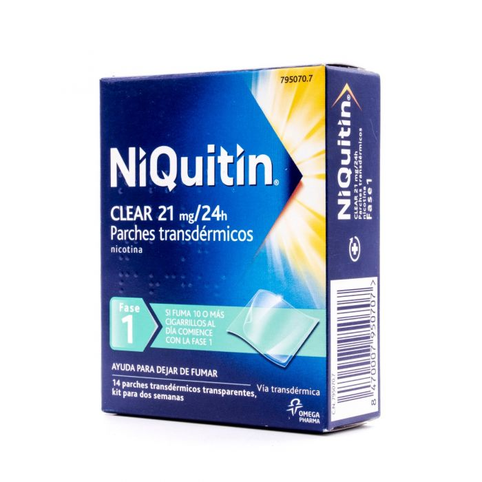 NiQuitin Clear 21mg/24h 14 parches transdérmicos