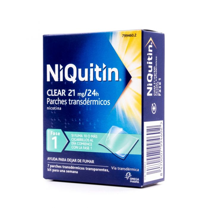 NiQuitin Clear 21mg/24h 7 parches transdérmicos