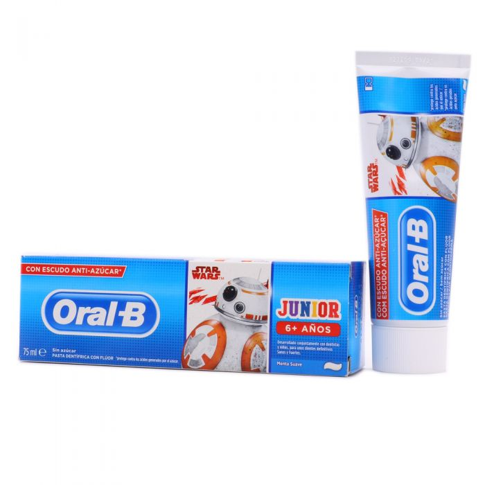 Oral B Pasta Dental Junior Star Wars Sabor Menta Suave 6+Años 75ml