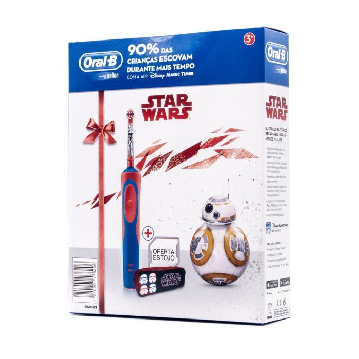 Oral B Cepillo Eléctrico Infantil Stages Star Wars Regalo Estuche 3+