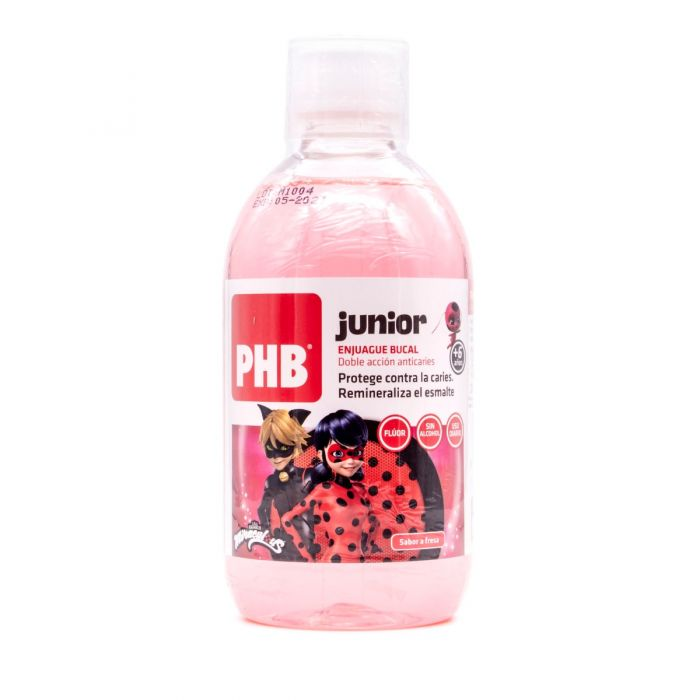 PHB Junior Enjuague Bucal Sabor Fresa +6A 500ml