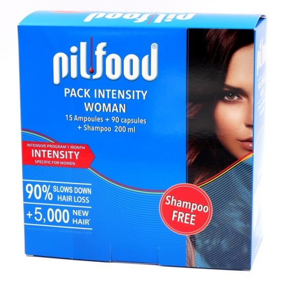 Pilfood  Pack Intensity 15 Ampollas+90 Cápsulas+Champú Gratis