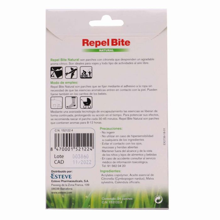 Repel Bite Natural Parches de Citronela 24 Parches