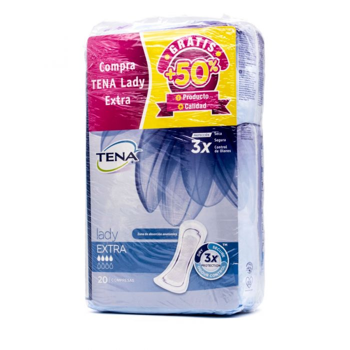 Tena Lady Extra Pack 20+10 Compresas